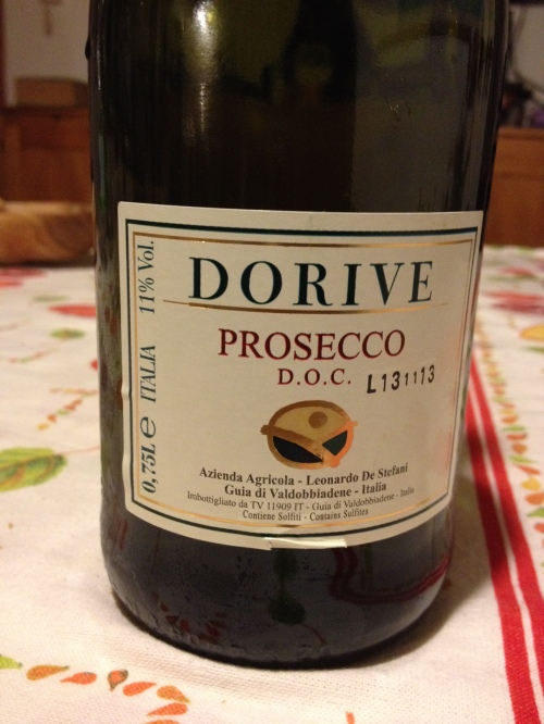 prosecco, the Italian champagne, or Champagne is the Italian prosecco, they joke here, as the Franks rage
